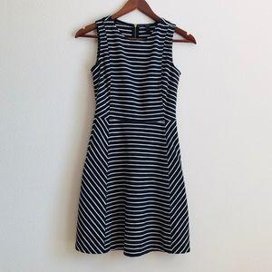 J.Crew black & white striped dress - 00